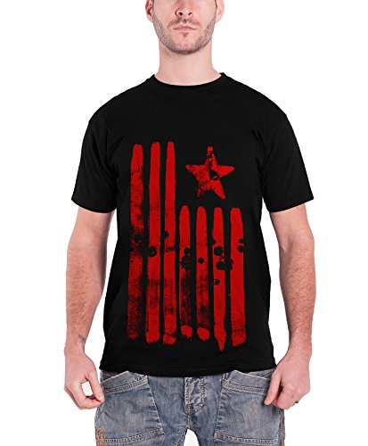 Rage Against Machine Merchandise - Rage Against The Machine T Shirt Star & Stripes Band Logo Official Mens