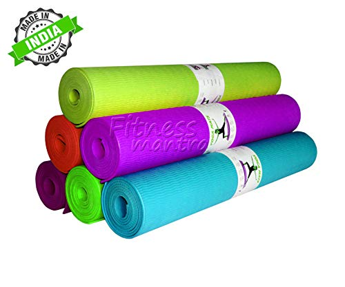 Fitness Mantra® Health & Fitness 4 mm Yoga mat [Multicolor][1Pcs.]