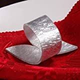 Culturemart 12 X Golden/Silver Acrylic Napkin Rings Beauty Special Irregular Plastic Napkin Holder for Wedding Hotel