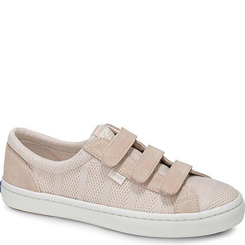 Keds Women's Tiebreak Striped Mesh Sneaker, Light Pink, 10 M US