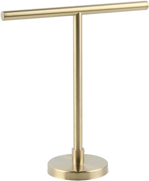 Bathroom Decor Vintage Gold Gilt Three Ring Metal Hand Towel Holder Stand