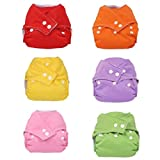 7 Pcs Baby Infant Adjustable Reusable Cloth Diaper Cover Pure Washable Nappies Size Adjustable
