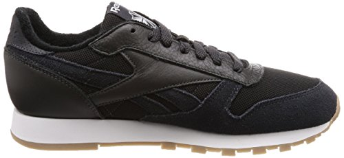 Reebok Baskets charbon Blanc Mu Pour Leather Hommes Cl 000 Gris r0nrO