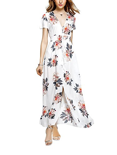ANGELADY Bohemian Button Floral Sleeve