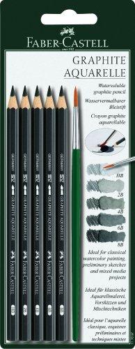 Faber-Castell Graphite Aquarelle Pencils 5/Pkg-Hb, 2b, 4b, 6b & 8b