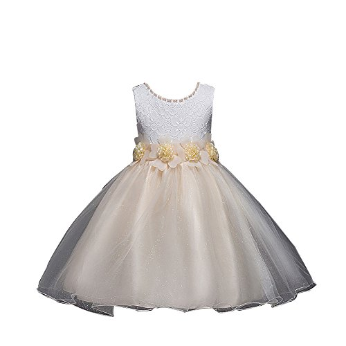 Lihuang Children's Lace Princess Dress Tutu Weding Dress Girl Show Dresses]()