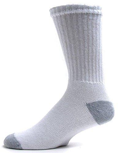 cd1dd8038 Gildan Men's Stretch Poly moveFX White Mid-Crew Socks, 6-Pack: Amazon.ca:  Home & Kitchen