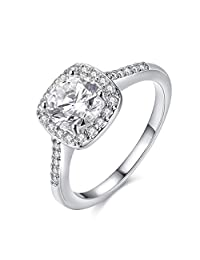 Ring for Women Cubic Zirconia CZ Diamond Eternity Engagement Wedding Band Gift Rings