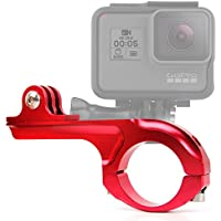 DURAGADGET Ultra-Strong Forged Aluminium Handlebar Mount in Red For GoPro Hero 4 Session, HERO 4, 3+, 3, 2, 1 & HD Hero, Naked / Helmet / LCD BacPak (Black, White, Silver, Surf, Outdoor & Sport Editions)