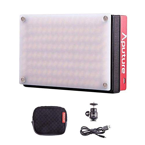 - Aputure Amaran AL-MX LED Video Light 128 SMD LED Bi-Color On-Camera Video Light, TLCI/CRI 95+, 2800-6500K Adjustable, 3200lux@0.3m Booster Mode with Built in Battery