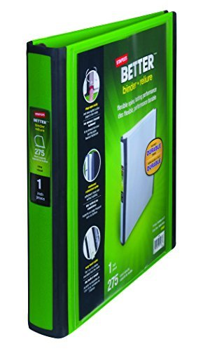 amazon com 1 inch staples better view binder with d rings dark