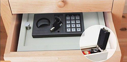 Digital Electronic Drawer Safe Hidden Security Box Jewelry Gun Cash Portable (WHITE/LIGHT GRAY) -