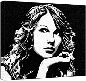 Taylor Swift Pop Art Painting 100 Original Painting Not a Print
