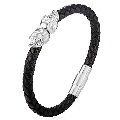 U7 Genuine Leather Braided Bracelet