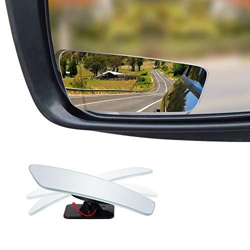 (Dependable Direct HD Frameless Blind Spot Mirror - Rectangular, Square Shaped 3.5