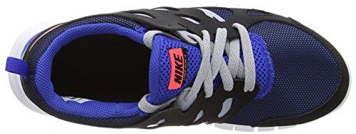 Nike Free Run 2 (GS) Unisex-Kinder Laufschuhe Mehrfarbig (Black/Hot Lava-Game Royal)