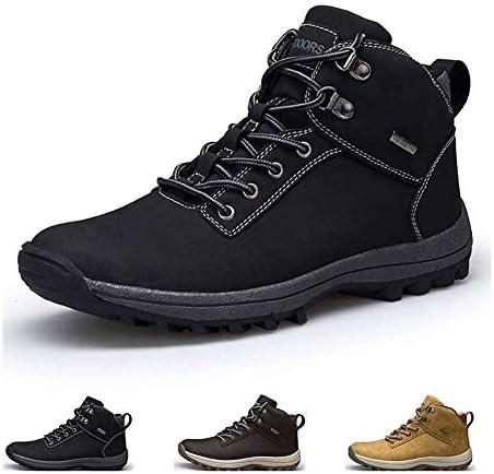 すべての天気暖かいミッド足首の靴誕生日、クリスマスを保冷男性防水ノンスリップレザー屋外の作業靴のためのハイキングブーツ