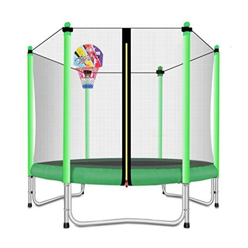 Lovely Snail Trampoline with Basketball Hoop-Trampoline for Kids-Green-5 Feet