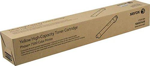 XEROX - High Capacity - yellow - original - toner cartridge - for Phaser 7500DN, 7500DT, 7500DX, 7500N, 7500V/DT, 7500V/DX, 7500V/N / 106R01438 /