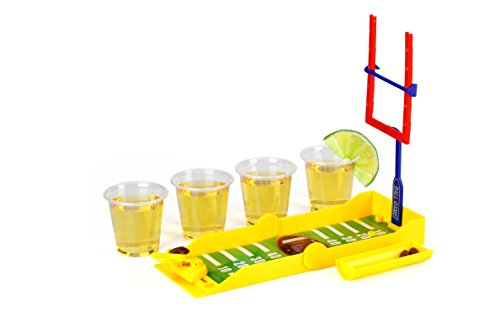 Barbuzzo Travel Drinking Game - Tackle Shots (Football) (Discount Drinking Glasses)