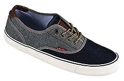 Levis Men's Rob Denim Fashion Sneaker, Navy Denim, 10 M US