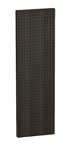 Lot of 2 New Black Molded Plastic 13.5'' Width x 44'' High Pegboard Wall Panels by Azar