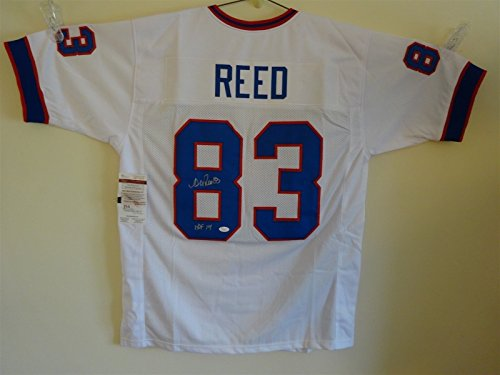 ANDRE REED SIGNED AUTO BUFFALO BILLS WHITE JERSEY HOF 14 JSA AUTOGRAPHED Andre Reed Buffalo