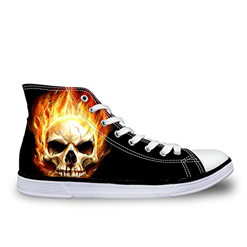 Punk High Walking Mens DESIGNS Breathable Skull U Canvas Skull 6 Top Shoes FOR Sneakers ET0waqva