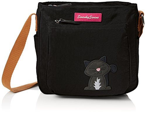 Emmy Ladies Motif with Womens Pocket Designer Black Bag SWANKYSWANS Side Crossbody Cat AAWOrqxnR