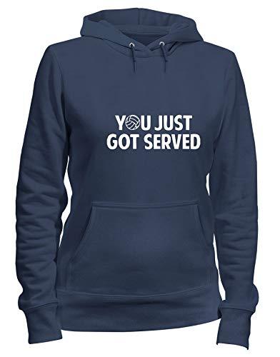 VOLLEYBALL Cappuccio OLDENG00332 Shirtshock T Donna GOT Felpa Navy SERVED Blu qtnz1O