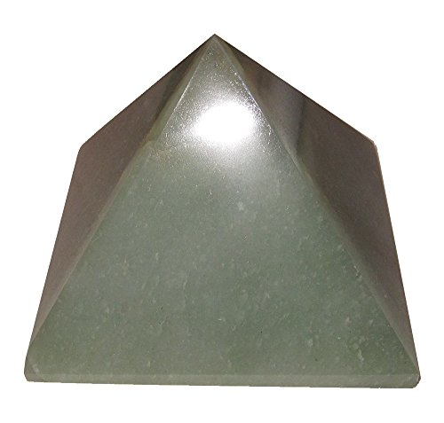 Triangle Crystal Jade (Aventurine Pyramid Green 17 Authentic Crystal Sacred Geometry Money Rich Wealth Energy Stone 5.2
