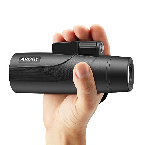 Monocular Telescope 12X50 High Power,ARORY HD Lightweight Monocular(0.58LB),Compact Zomm Monoculars for Adults,BAK4 Prism Fully Coated Optical Lens Single Hand Focus, Great for Camping/Travel/Outdoor