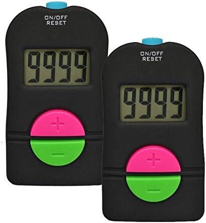 iPobie 2 Piezas Contador Manual Digital De Conteo, Contador Digital pequeño para Deportes de Golf para Agregar/Quitar Pantalla LCD Contador