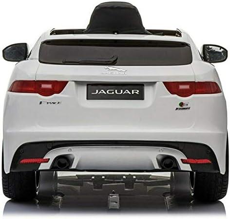 m/úsica y Radio FM ATAA Jaguar F-Pace 12v Coche Grandes Dimensiones Blanco Coche de bater/ía para ni/ños Jaguar F- Pace con Mando