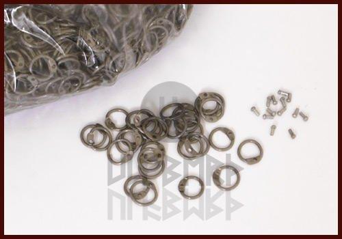RRR 1 kg lose runde Ringe zum Vernieten, ID 8mm, unbehandelt LARP Mittelalter Ulfberth ULF-RRR-LR