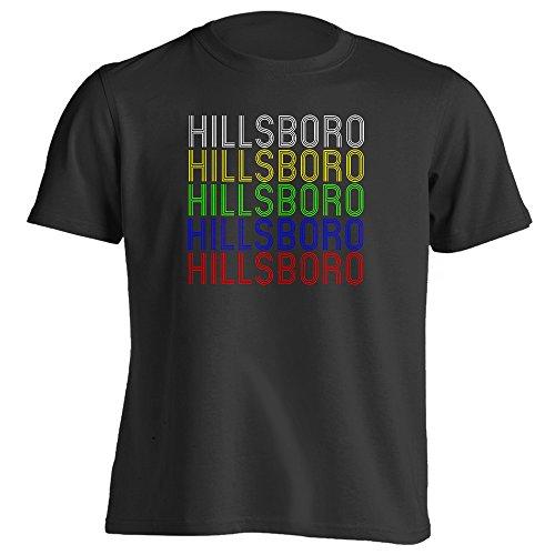 4Ink Retro Hometown - Hillsboro, TX 76645 - Black - XX-Large - Vintage - Unisex - - Hillsboro Tx 76645