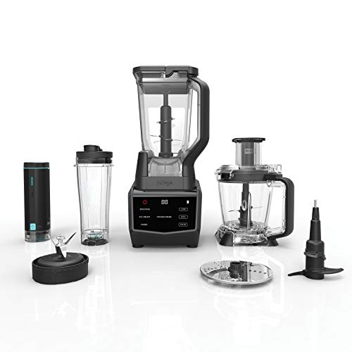 Ninja Smart Screen Blender and Food Processor with FreshVac Technology, 1400-Peak-Watt Base, 9 Auto-iQ Programs & Touchscreen Display (CT672V) (Ninja Food Processors)