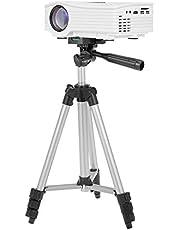 حامل ثلاثي القوائم JF-3110 مصنوع من خليط الألومنيوم متنقل خفيف الوزن للسفر من 3 أقسام مع حامل قائم للهاتف بثقب براغي 1/4 بوصة لجهاز عرض كاميرا الهاتف الذكي