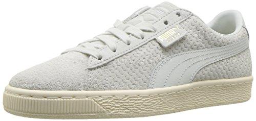 Puma Donna Camoscio Classico Perforati Wns Sneaker Blu Flower-whisper Bianco