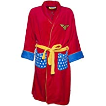 TruffleShuffle Womens Red Retro DC Comics Wonder Woman Dressing Gown