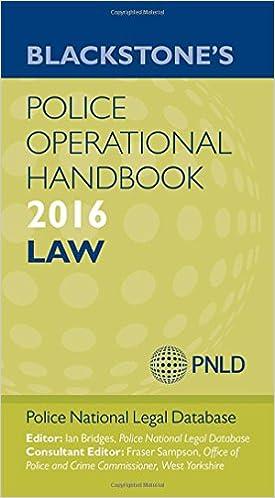Blackstones Police Operational Handbook 2014: Law