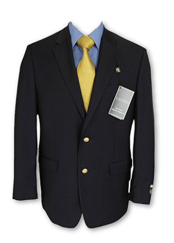Ralph Lauren Mens 2 Button Navy Blue Wool Blazer Sport Coat Jacket - Size 48L