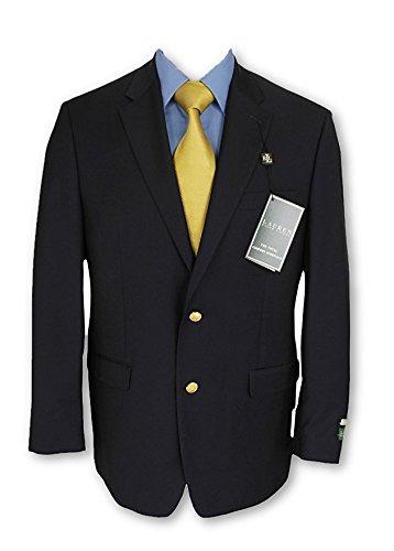 Ralph Lauren Mens 2 Button Navy Blue Wool Blazer Sport Coat Jacket - Size (Lined Wool Blazer)