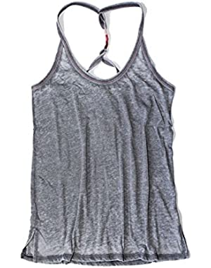 Women's - Gray Burnout Friendship Wrap Racerback Tank Top