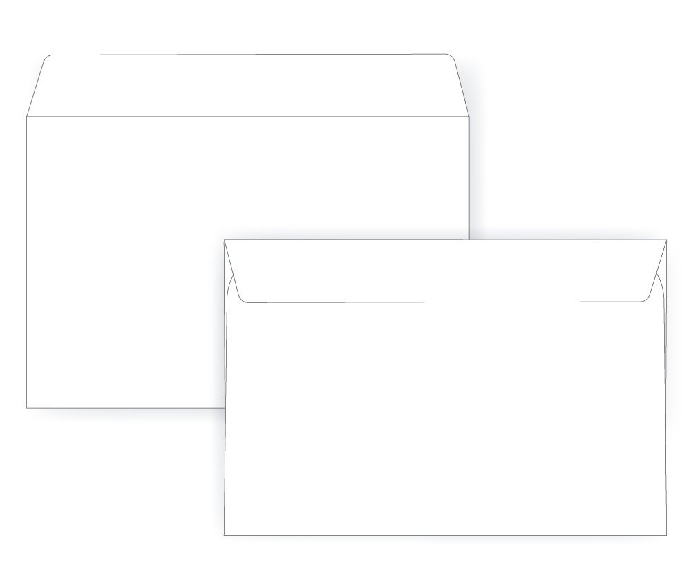 24# White - Large Envelope Series Box of 250 6 1//2 x 9 1//2 Booklet Envelope Open Side 6.5 x 9.5