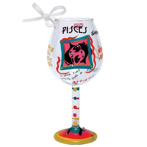 Santa Barbara Design Studio Lolita Holiday Mini-Wine Ornament, Pisces (Ornament Glass Lolita Wine)