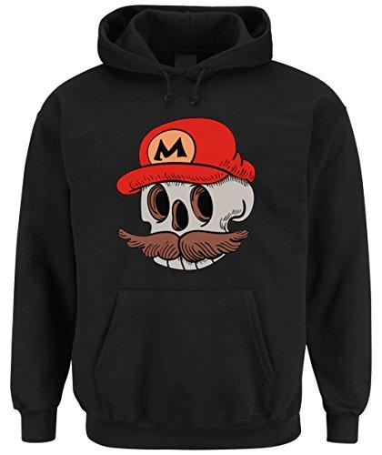 Skull Mario Hooded-Sweater Black Certified Freak