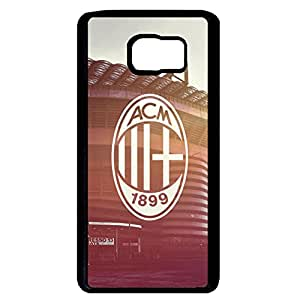 Vintage Style Associazione Calcio Milan Logo Phone Case Cover For Samsung Galaxy Note 5 Retro Sunset Back Phone Case Design For Men JM-027