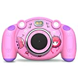 Campark Kids Camera Gifts for 3-8 Year Old Girls, Children Camcorders Gift Mini Child Camera for Little Girl with Mic, Non-Slip and Anti-Drop Design for Outdoor Play,Pink