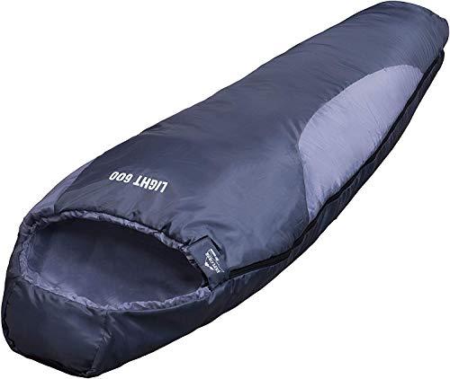 EXPLORER LIGHT 600 Schlafsack ultraleicht klein warm 210 x 75 cm Mumienschlafsack Hüttenschlafsack -2°C Outdoor Camping…